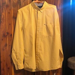 Men's Tommy Hilfiger-L yellow gingham button up